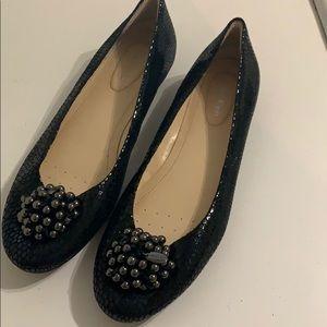 Calvin Klein Black Beaded Ballet Flat Size 8